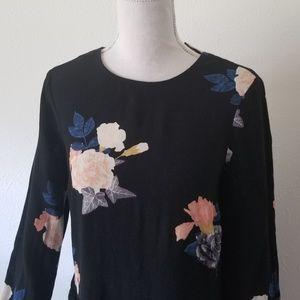ASOS Dresses - ASOS YAS Long Sleeve Black Floral Dress XS